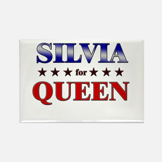 SILVIA for queen Rectangle Magnet