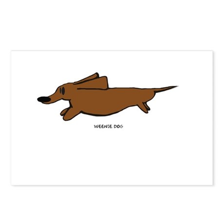 Weenie Dog Postcards (Package of 8)