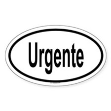 URGENTE Oval Decal