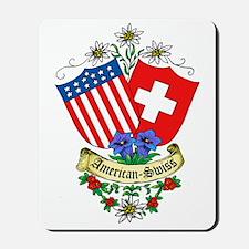 American Swiss Crest Mousepad