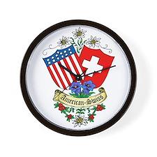 American Swiss Crest Wall Clock