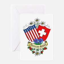 American Swiss Crest Greeting Card