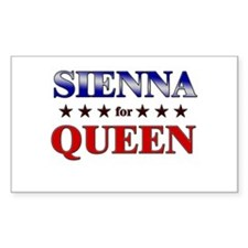SIENNA for queen Rectangle Decal