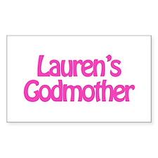 Lauren's Godmother Rectangle Stickers