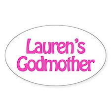 Lauren's Godmother Oval Decal