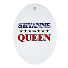SHYANNE for queen Oval Ornament