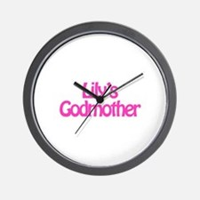 Lily's Godmother Wall Clock