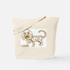 Retro Liger Tote Bag