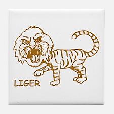 Retro Liger Tile Coaster