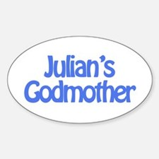 Julian's Godmother Oval Decal