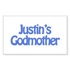 Justin's Godmother Rectangle Decal