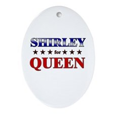 SHIRLEY for queen Oval Ornament