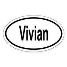 VIVIAN Oval Decal
