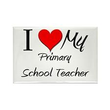 I Heart My Primary School Teacher Rectangle Magnet
