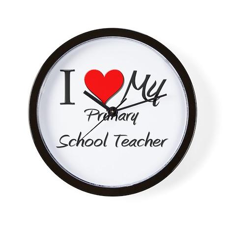 I Heart My Primary School Teacher Wall Clock