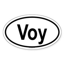 VOY Oval Decal