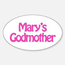 Mary's Godmother Oval Decal