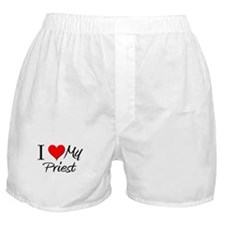 I Heart My Priest Boxer Shorts