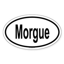 MORGUE Oval Decal