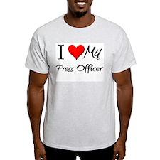 I Heart My Press Officer T-Shirt