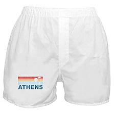 Retro Palm Tree Athens Boxer Shorts