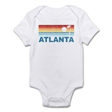 Retro Palm Tree Atlanta Infant Bodysuit