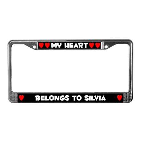 My Heart: Silvia (#001) License Plate Frame