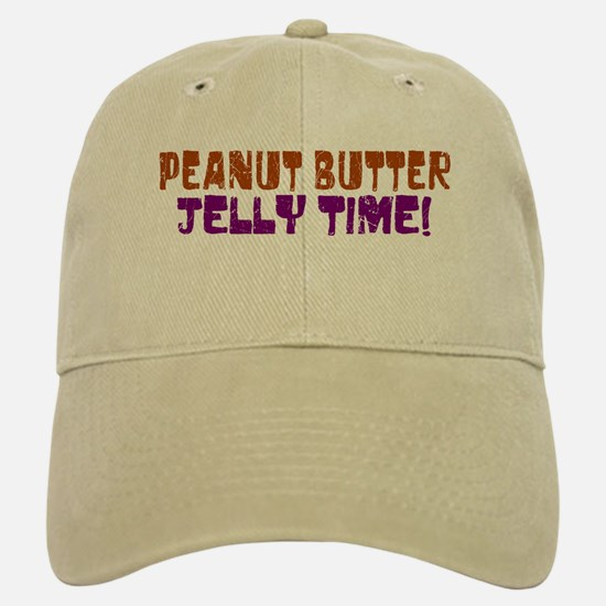 Peanut Butter Jelly Time Baseball Baseball Cap