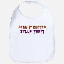 Peanut Butter Jelly Time Bib