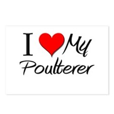I Heart My Poulterer Postcards (Package of 8)