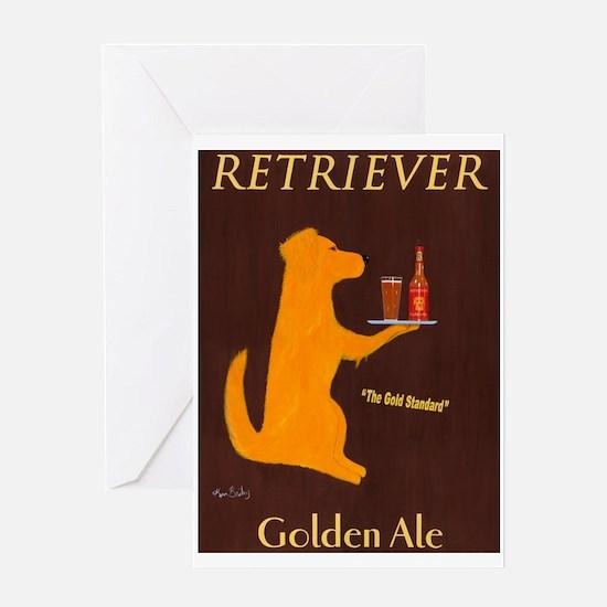 Retriever Golden Ale Greeting Card