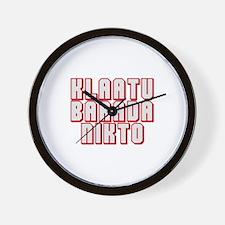 klaatu barada Nikto #3 Wall Clock