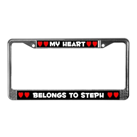 My Heart: Steph (#001) License Plate Frame