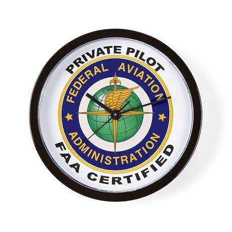 FAA Certified Private Pilot Wall Clock
