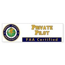 FAA Certified Private Pilot Bumper Bumper Sticker