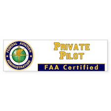 FAA Certified Private Pilot Bumper Car Sticker