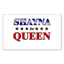 SHAYNA for queen Rectangle Decal