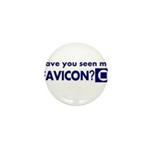 favicon t-shirt Mini Button (10 pack)