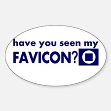 favicon t-shirt Oval Decal
