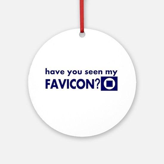 favicon t-shirt Ornament (Round)