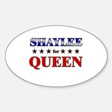 SHAYLEE for queen Oval Decal