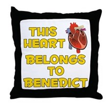 This Heart: Benedict (A) Throw Pillow