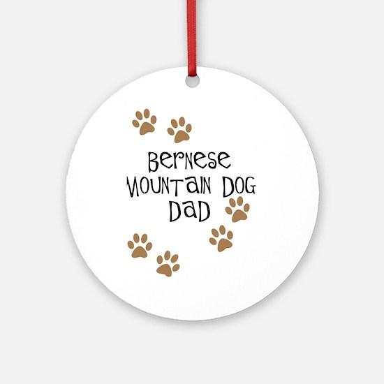Bernese Mt. Dog Dad Ornament (Round)
