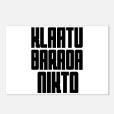 Klaatu barada Nikto #4 Postcards (Package of 8)