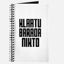 Klaatu barada Nikto #4 Journal