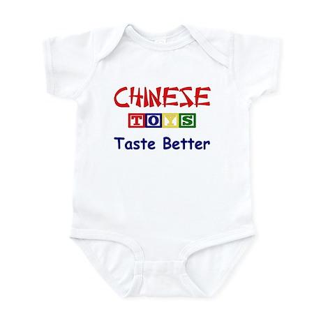 CHINESE TOYS TASTE BETTER Infant Bodysuit