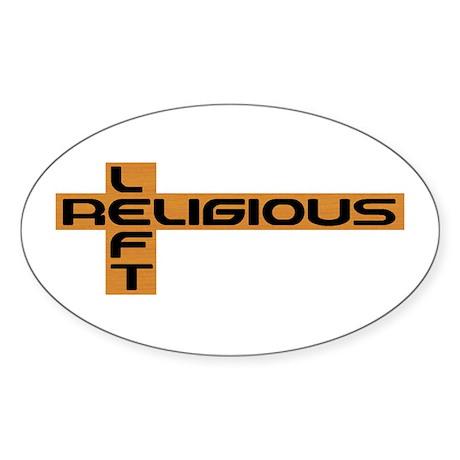 Religious Left Oval Sticker