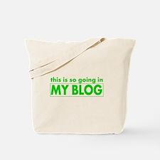 blog t-shirt Tote Bag