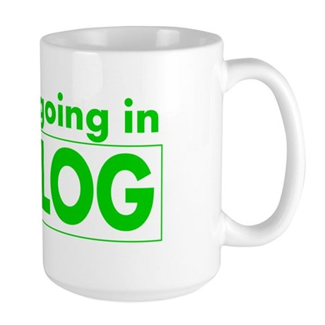 blog t-shirt Large Mug