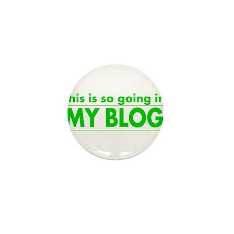 blog t-shirt Mini Button (10 pack)